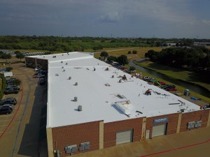 flat roof installation in dallas